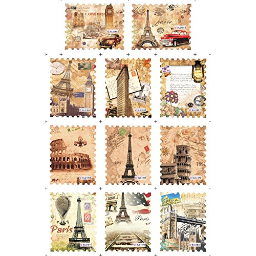 Perfect Summer Vintage Retro DIY Nails Art Water Slide Transfer Postage Stamp Letters Pattern Decals and Stickers for Girls Kids