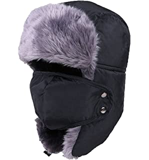 Holyhigh Unisex Trapper Aviator Ski Hat Earflap Warm Winter Caps With Mask d2a701b7bcbe