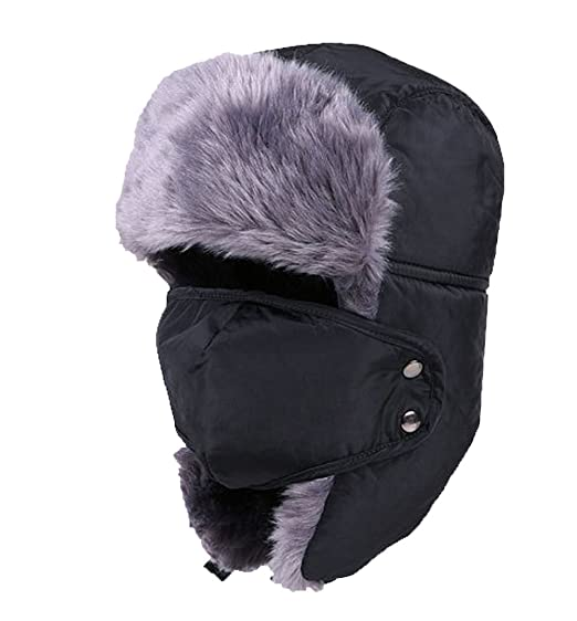 58e87d6adf8040 Holyhigh Men & Women Unisex Trapper Trooper Bomber Ski Hat Earflap Warm  Winter Outdoor Caps With