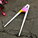Fashion Easy ABS Kid Children Toddler Right Training Chopsticks For 2 years Hot Pink