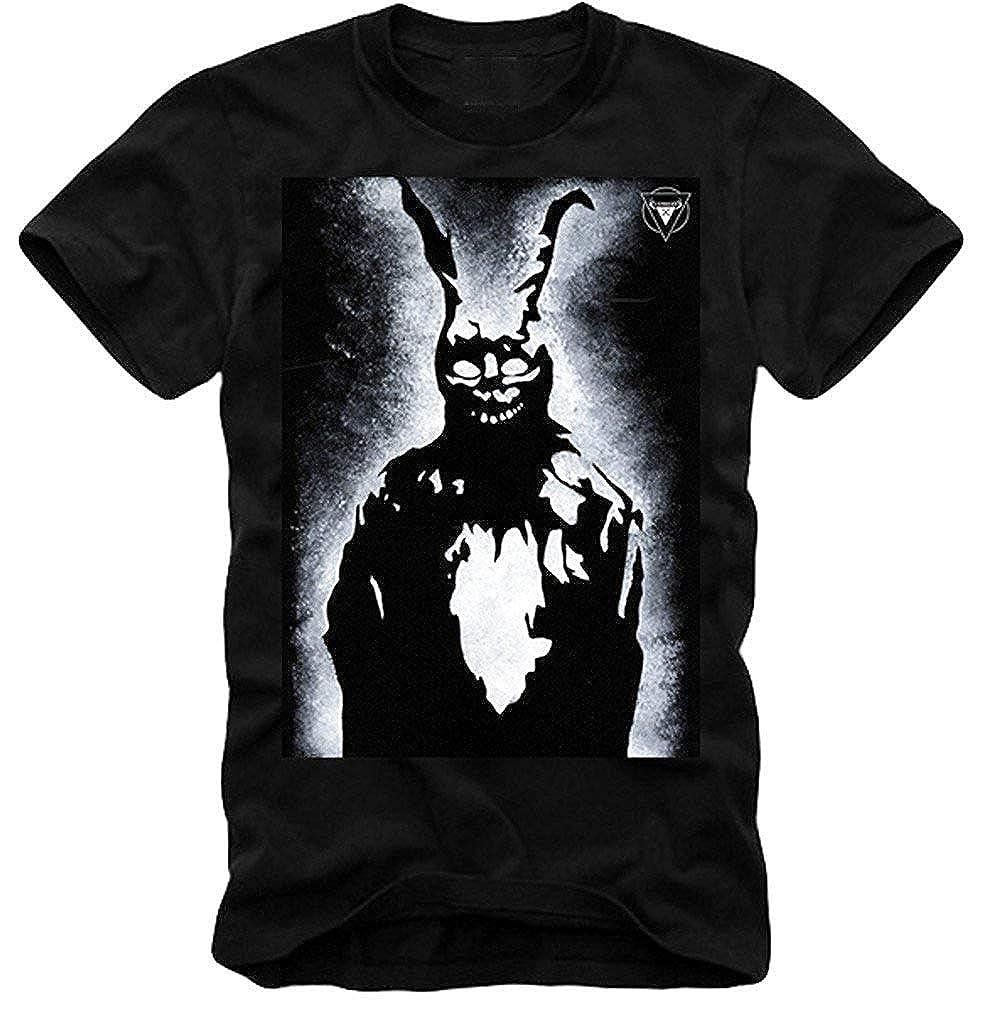 Whits Tshirt Donnie Darko Frank Rabbit Skull Blue Ray Wake Up Inspired Funny Tees