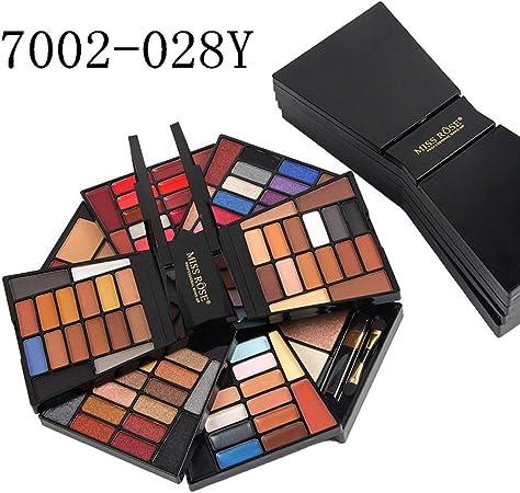 BFHCVDF Miss Rose Estuche de Maquillaje 64 Colores Estuche de Maquillaje para Sombra de Ojos 7002-028N / Y Colorido: Amazon.es: Hogar