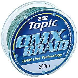 Zebco 2659143 Topic OMX - Hilo de pescar (0,43 mm, 250 m), varios colores