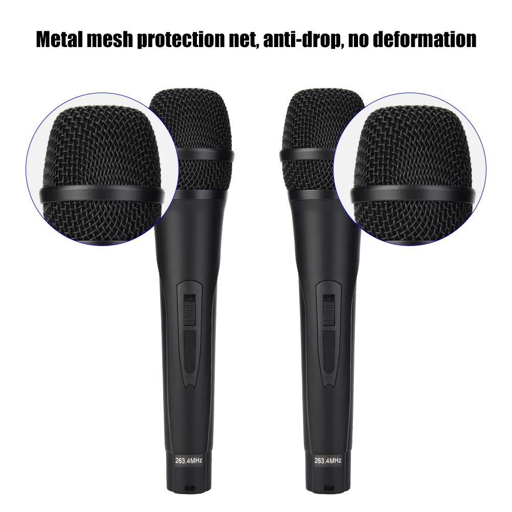 ASHATA Handheld Wireless Karaoke, Handheld Mini Home KTV Wireless WiFi Karaoke Machine with Two Microphone,Stereo Surrounding Sound Karaoke Machine for Home KTV by ASHATA (Image #2)