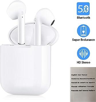 Mini Auriculares Bluetooth 5.0, Inalámbricos Auriculares I9 ...