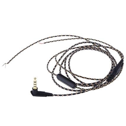 Sharplace Alambre de Reparar de 3,5mm para Auriculares Cascos con Mic Música Audio DIY
