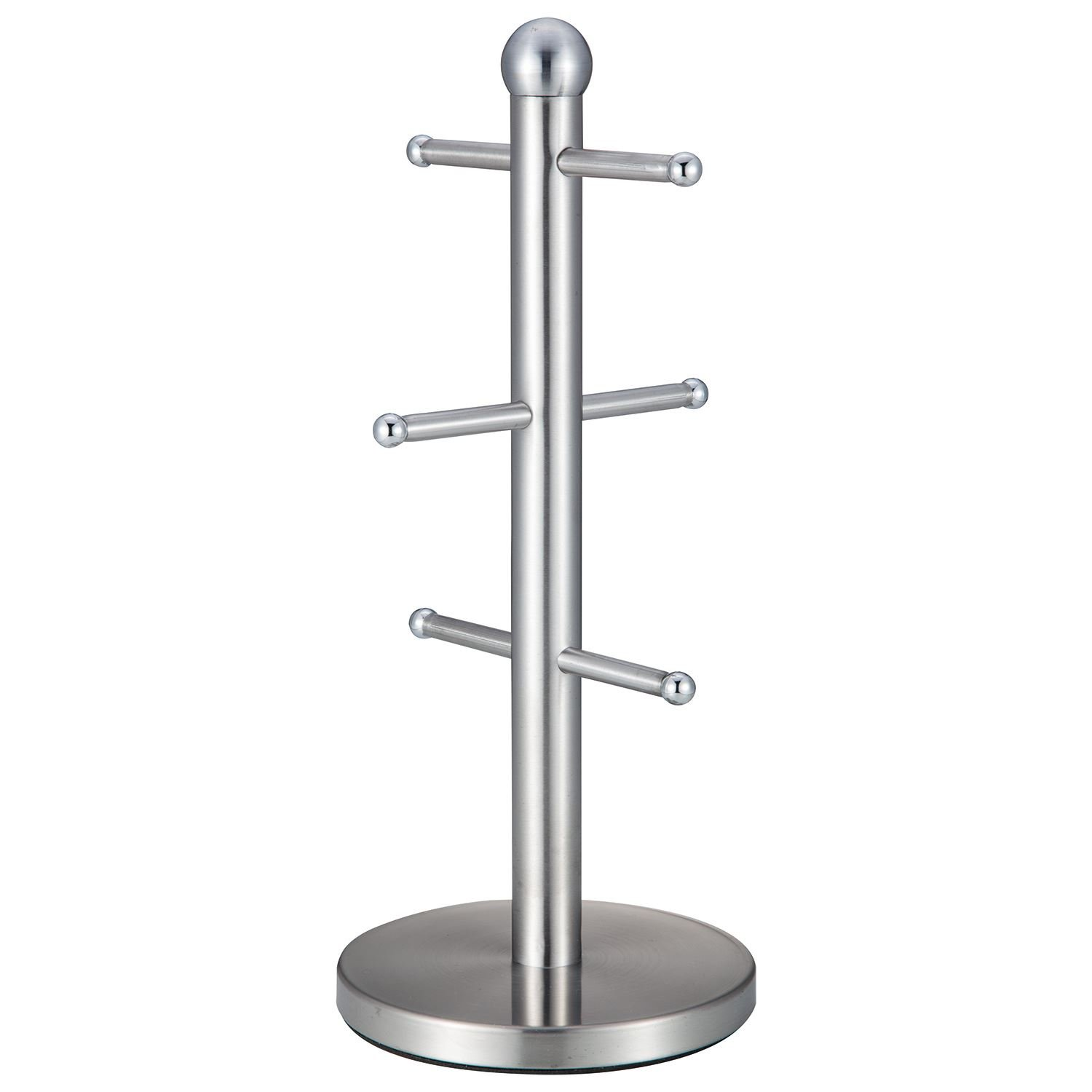 Black Stainless Steel 6 Cup Mug Tree Stand Holder Hanging Cup Kitchen Storage Rack