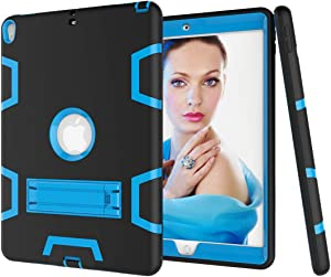 Tablet covers Shockproof Heavy-Duty Rubber High-Strength Sturdy and Durable Hybrid Three-Layer Full Body Protective Case for New iPad Pro 10.5 Built-in Shockproof Support Protective Cover Case Skin
