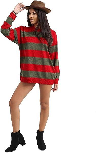 maf - Jersey Unisex de Rayas Rojas y Verdes para Disfraz de Freddy ...