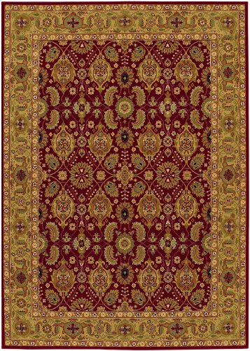 Persian Wool Vase - Couristan 8132/2608 Royal Kashimar All Over Vase/Persian Red 7-Feet 10-Inch by 11-Feet 1-Inch Rug