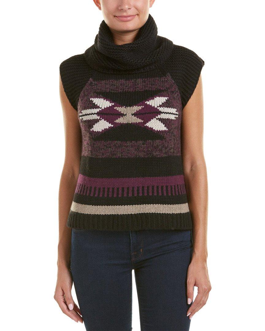 Autumn Cashmere Womens Navajo Cashmere & Wool-Blend Vest, S, Purple