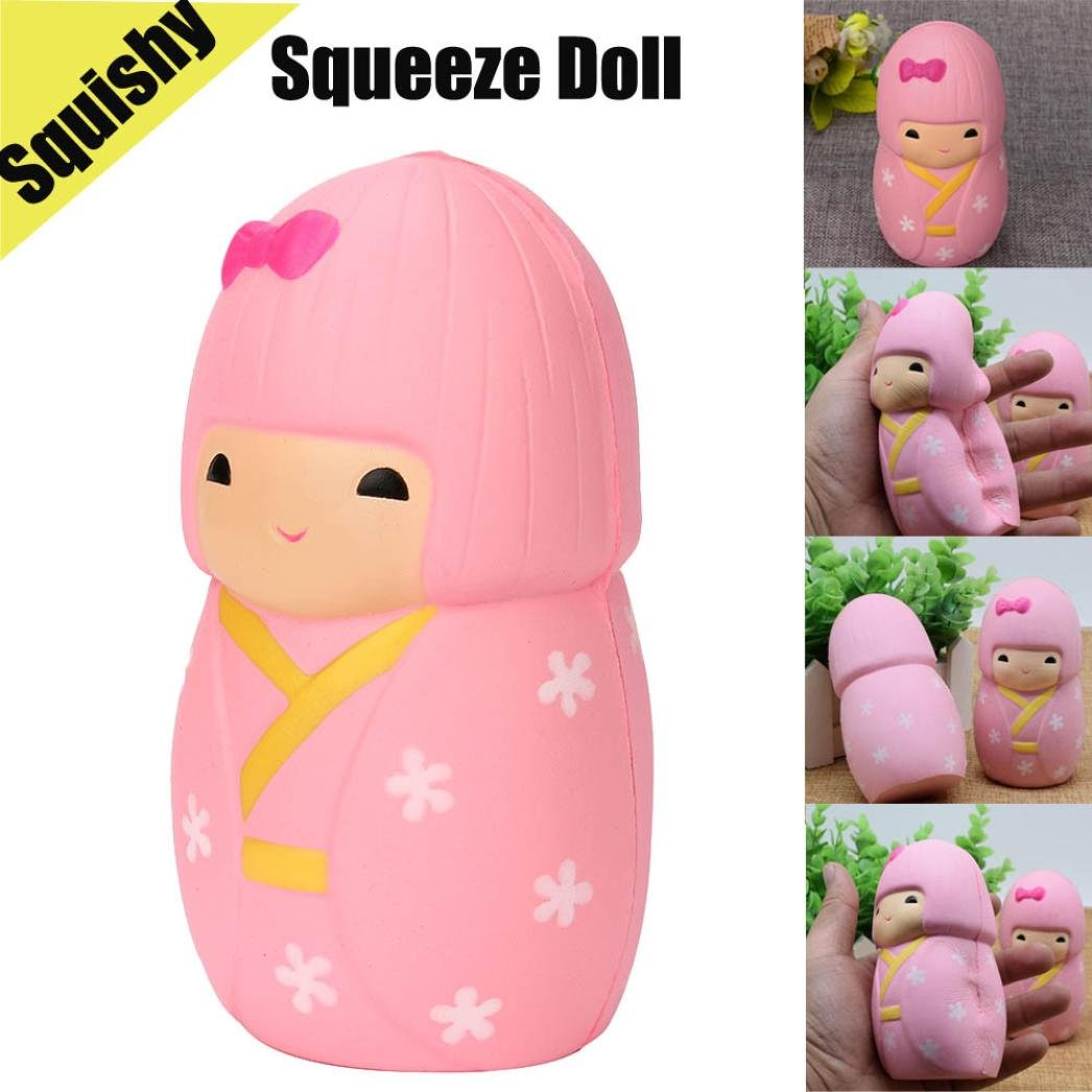 CSSD Squeeze Squishy Ice Cream/Emulation Doll/Knapsack Bear/Cartoon Cat/Lovely Sheep Slow Rising Scented Stress Reliever Toy Gifts (B)
