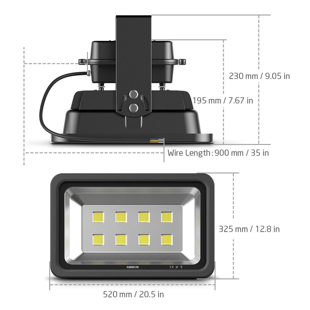 black-200watt AMMON LED Flood Light 200W Outdoor Waterproof IP65 20000lm Super Bright Flood Lamp Cool White 6000K Spotlight Lamp Daylight for Garden Yard Party Playground