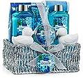Spa Gift Basket Heavenly Ocean Bliss Scent - 9 Piece Bath & Body Set Includes Shower Gel, Bubble Bath, Bath Salt, Body Lotion & more! Great Wedding, Anniversary, Birthday or Graduation Gift for Women