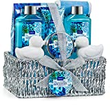 Mother's Day Spa Gift Basket, Heavenly Ocean Bliss Scent - 9 Piece Bath & Body Set Includes Shower Gel, Bubble Bath, Bath Salt, Body Lotion & More! Great Wedding, Birthday or Graduation Gift for Wom