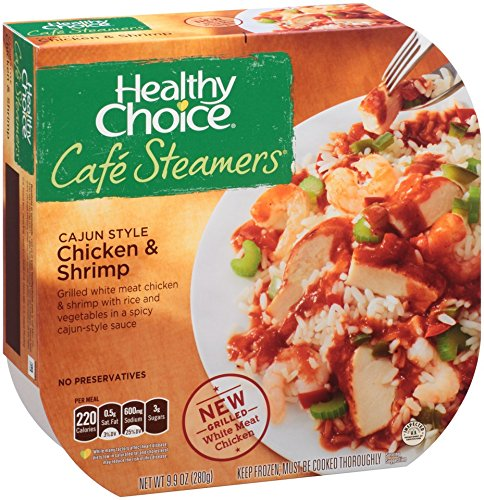 Healthy Choice Café Steamers, Cajun Style Chicken and Shrimp, 9.9 Oz. (16 Count) by Healthy Choice