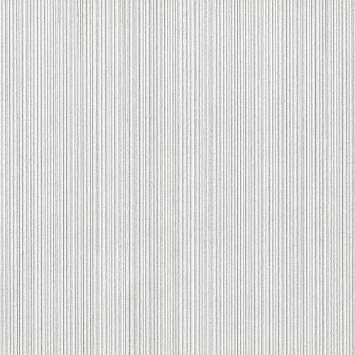 Stripe Wallpaper Double Roll - Serenity Aluminum Silver Vinyl Textured Wallpaper For Walls - Double Roll - By Romosa Wallcoverings