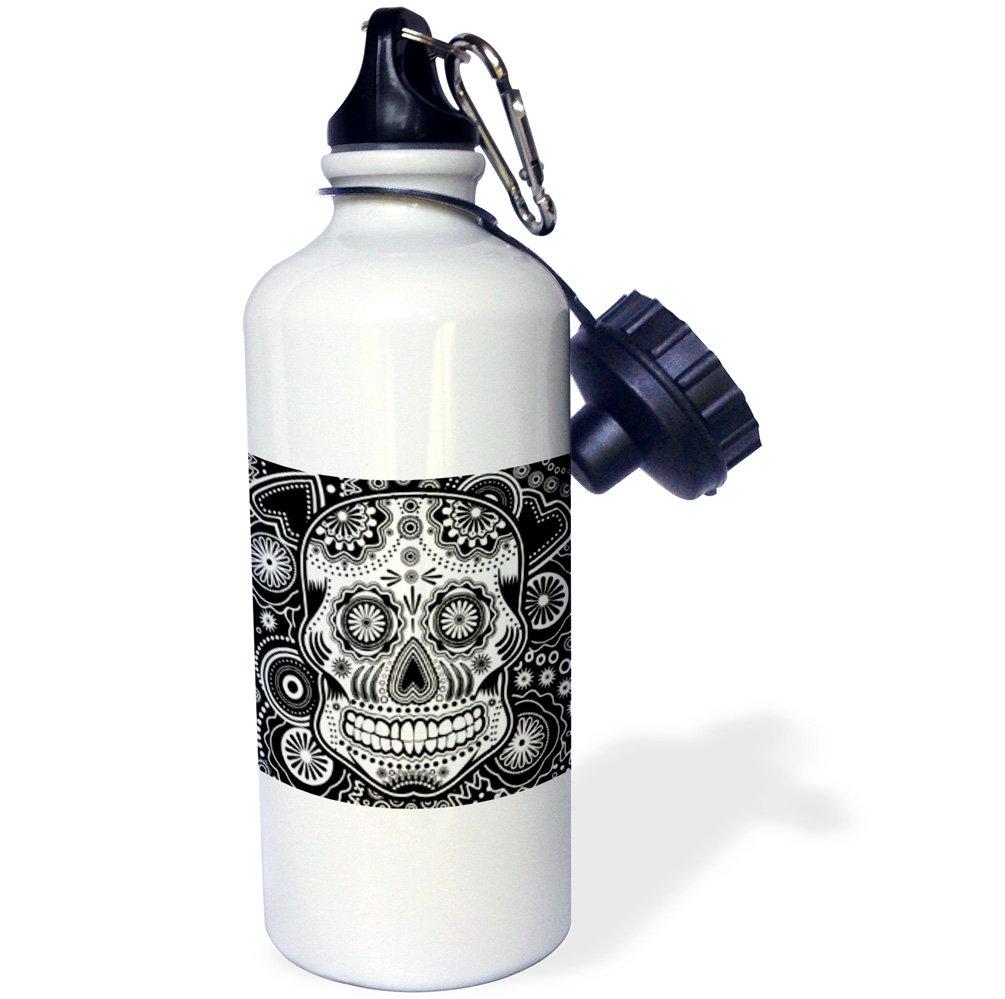 wb/_201651/_1 3dRose Geometric Sugar Skull-Sports Water Bottle 21oz 21 oz Multicolor
