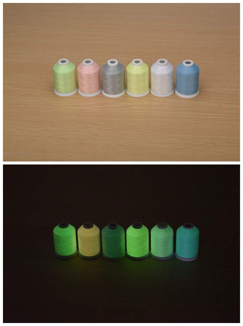 Sinbel Glow in The Dark Embroidery Machine Thread (1100Y 6C) by Sinbel