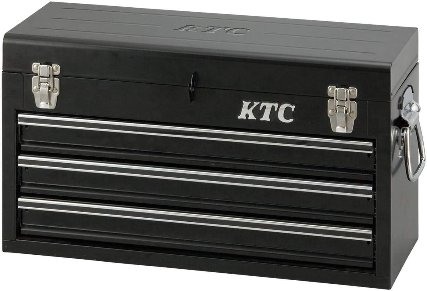 京都機械工具(KTC) ツールチェスト 3段3引き出し ブラック SKX0213BK