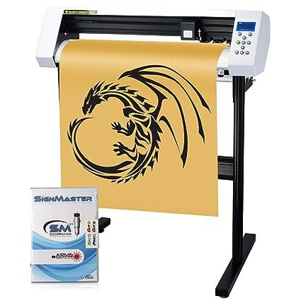 Vinyl Cutter Software >> Amazon Com Mkcutty 27 Vinyl Cutter Sign Cutting Plotter Machine