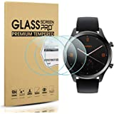 Diruite 3-Pack for Ticwatch C2 / E2 / S2 Screen Protector, 2.5D 9H Hardness Tempered Glass Screen Protector for Ticwatch C2 / Ticwatch E2 / Ticwatch S2 Smartwatch
