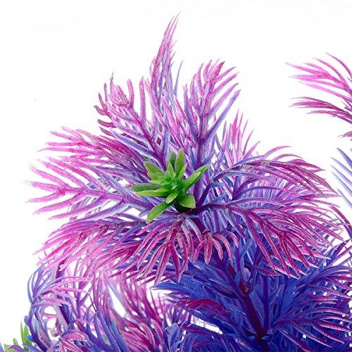 Image of Saim Plastic Artificial Plant Aquarium Decor Fish Tank Decoration Purple