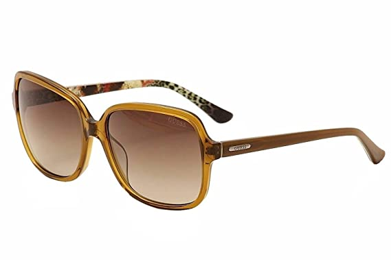 93d72476e5 Image Unavailable. Image not available for. Color  Guess Women s GU7382  GU 7382 47F Honey Brown Fashion Sunglasses 60mm