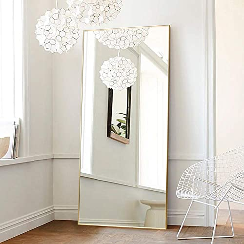 ONXO 71″x 32″ Full Length Mirror Large Mirror Lean Without Standing Bracket Against Wall Mirror Dressing Mirror Aluminum Frame Mirror