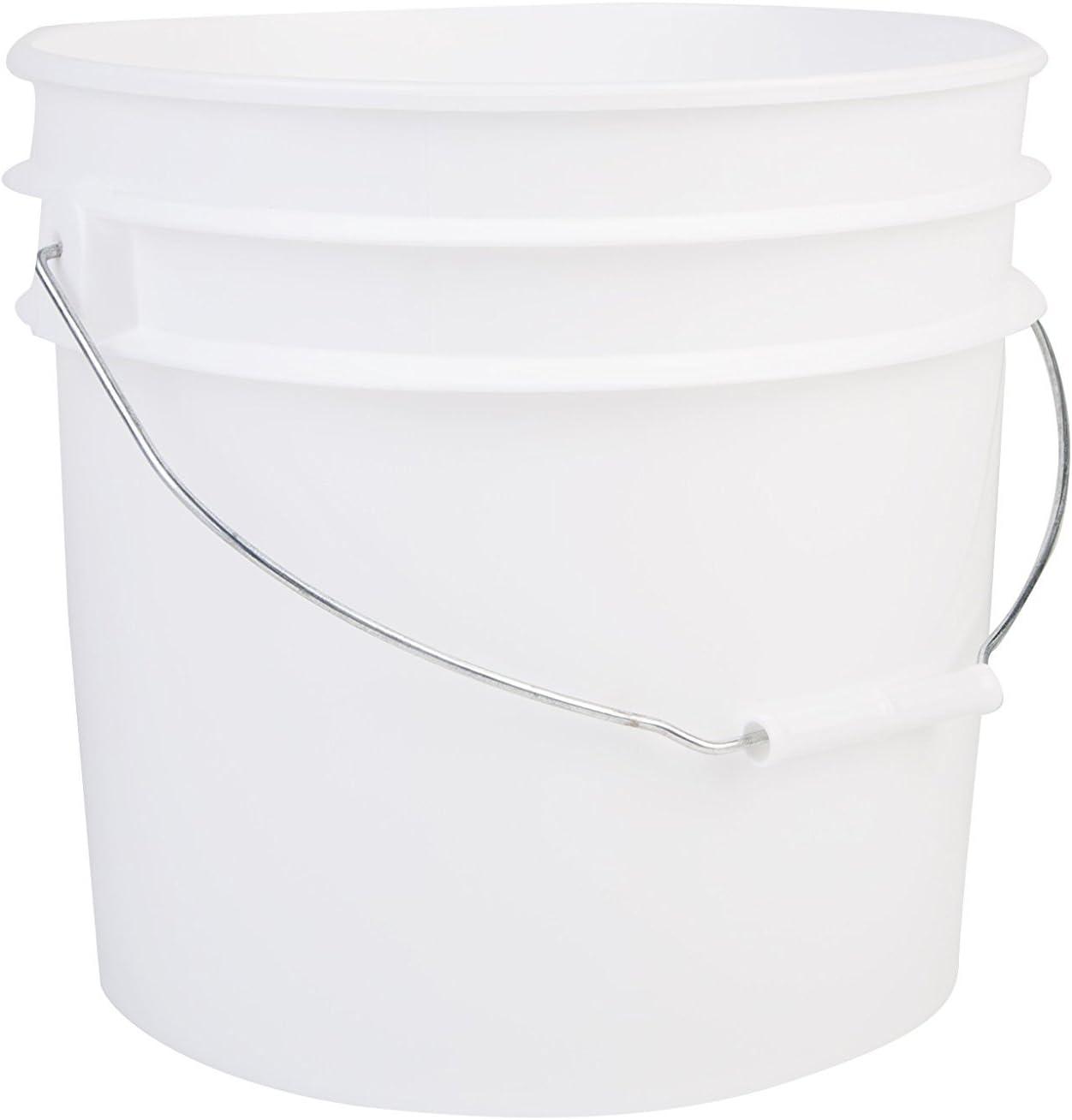 Hudson Exchange Premium 3.5 Gallon Bucket, HDPE, White