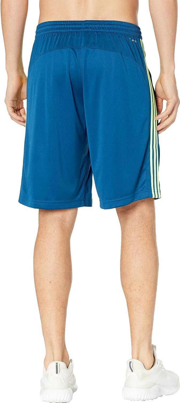 : adidas Men's D2M 3 Stripe Shorts Legend Marine