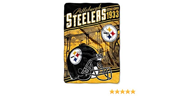Amazon.com  Northwest 076 Pittsburgh Steelers NFL Stagger Oversized Micro  Raschel (62in x 90in)  Home   Kitchen 92468f640