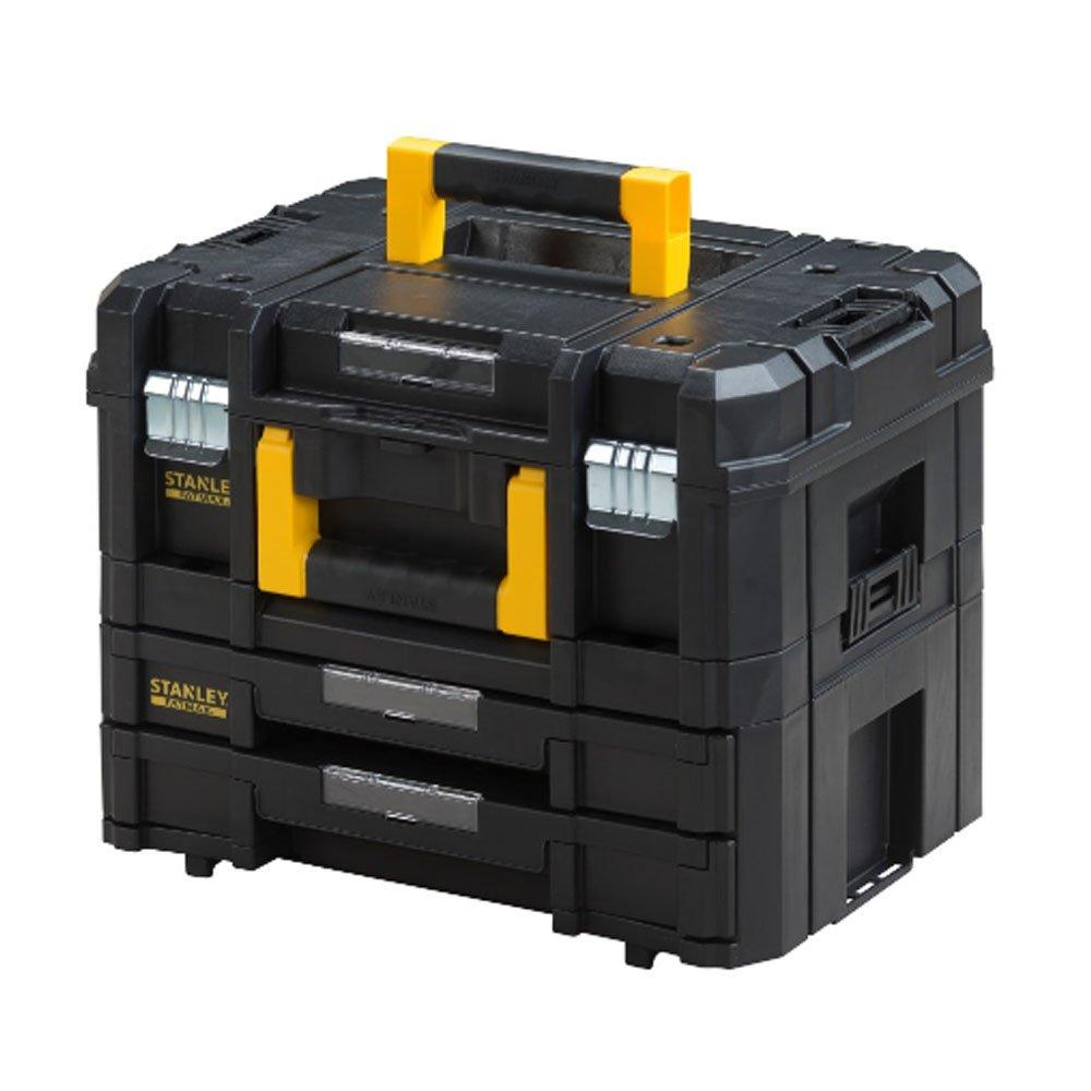 Stanley FatMax Werkzeugkoffer (21,5L Fassungsvermögen, mit 2 Schubladen und Organizern für Kleinteile, mit Metallschließen, mit herausnehmbaren Innenteilern) FMST1-71981 5L Fassungsvermögen mit Metallschließen BLAMT