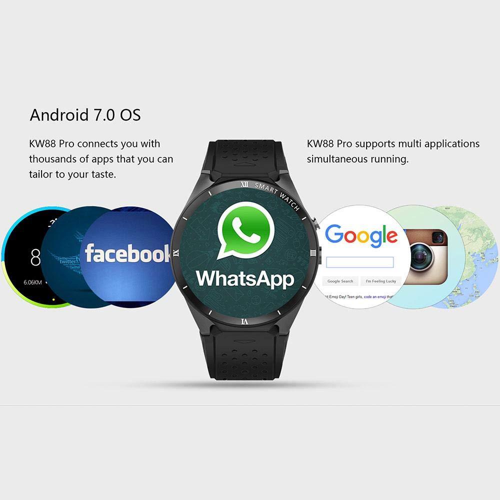 Amazon.com: Leegoal Bluetooth Smart Wristwatch, KW88 Pro ...