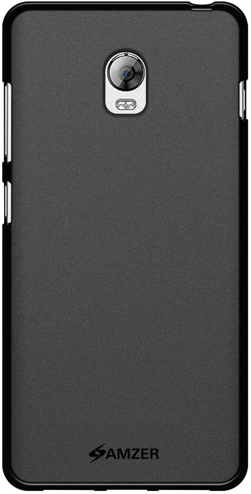Amzer Pudding Soft Gel TPU Skin Fit Cell Phone Case for Lenovo Vibe P1 - Retail Packaging - Black