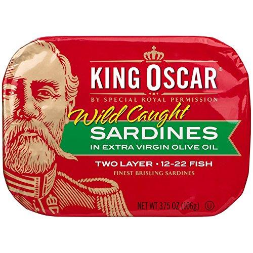 King Oscar Brisling Sardines - King Oscar Finest Norwegian Brisling Sardines in Olive Oil, 3.75 oz