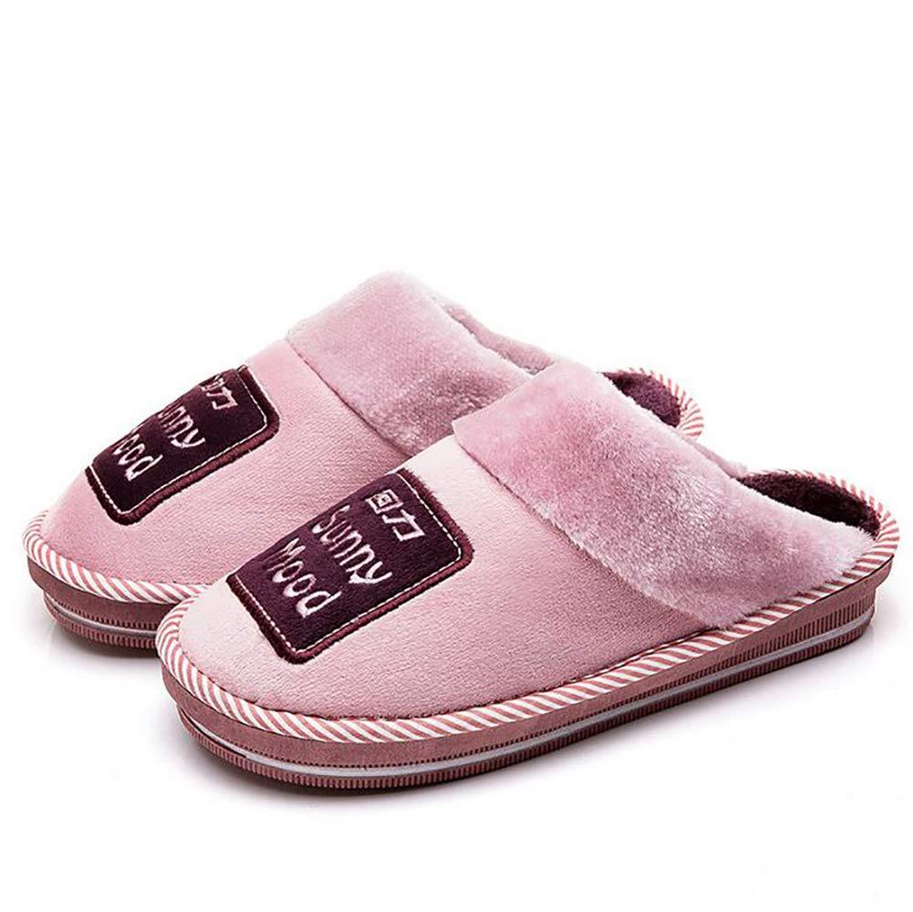 SHANGXIAN Invierno Casa Pantuflas Zapatos Pareja Espesar Mantener Caliente Interior Casual Algodón Pantuflas Cómodo Y Suave,Purple,38/39: Amazon.es: Hogar
