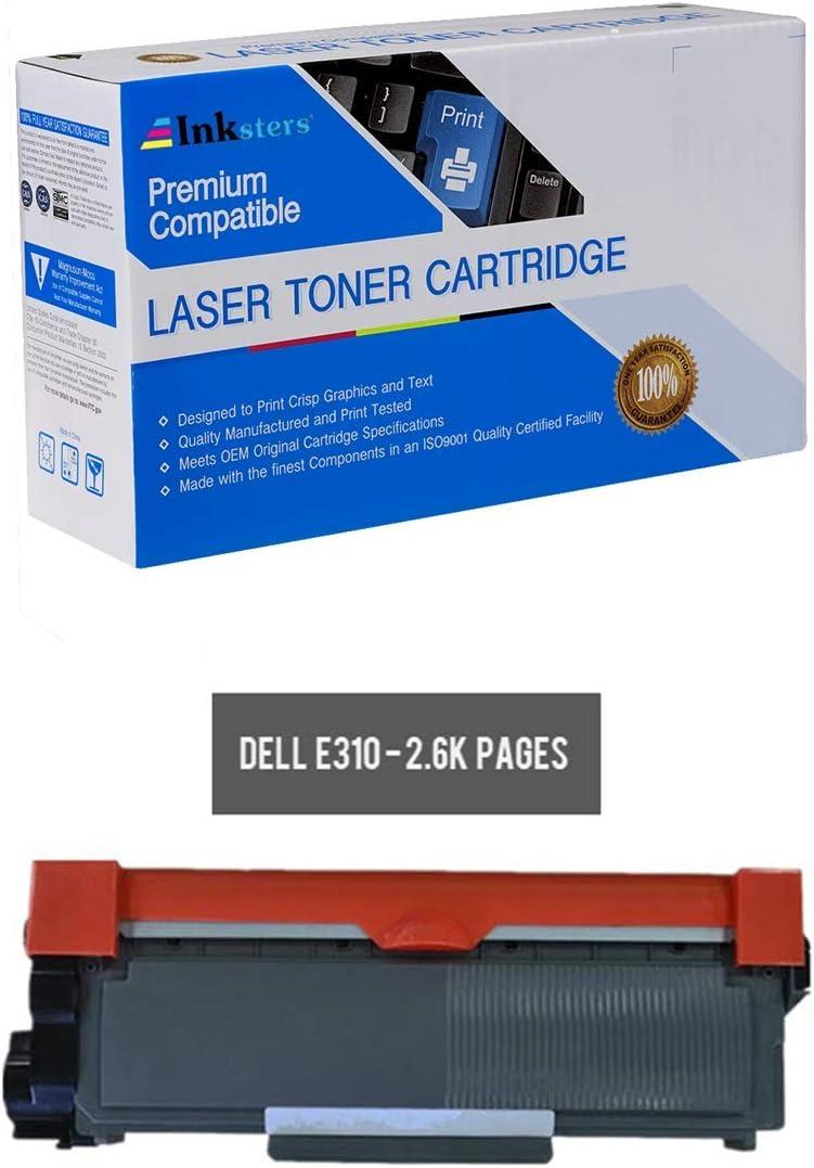 Inksters Compatible Black Toner Cartridge Replacement for Dell 593-BBKD - Compatible with E310DW E514DW E515DN E515DW