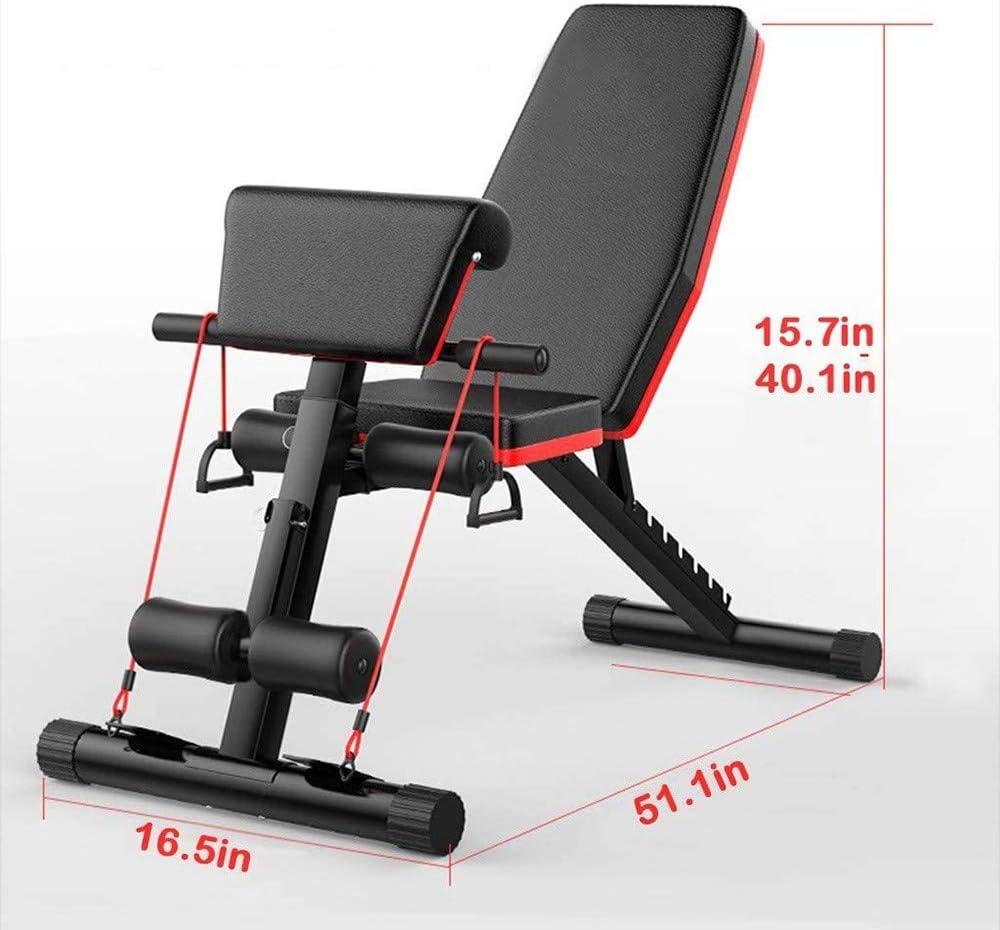 LLSS Banc de Musculation Pliable R/églable Inclinable Banc de Poids Multifonction Sit-up Fitness Perm/éable /à lair Muscle Abdominal Banc pour Entra/înement Complet du Corps