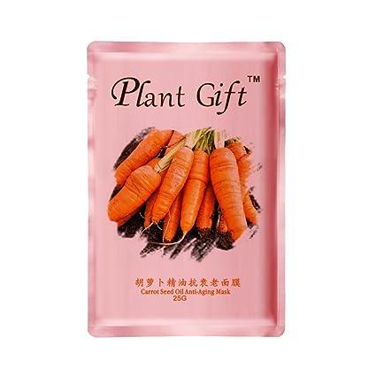 Plant Gift-Aceite de semilla de zanahoria antienvejecimiento máscara-Repone el agua de las