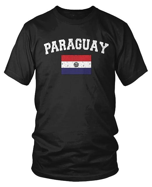Amazon.com: amdesco para hombre Paraguayan bandera escudo ...
