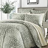 Stone Cottage Abingdon Comforter Set, King, Dark Green