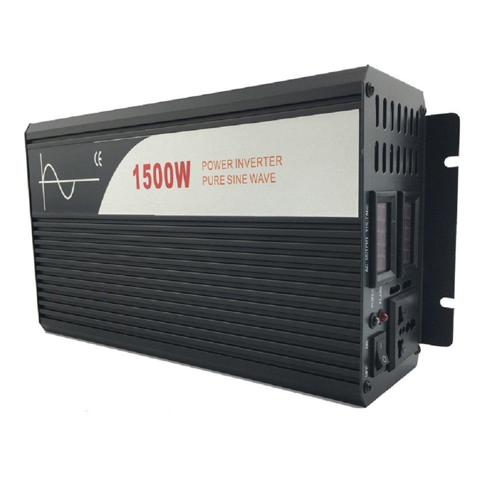 Xijia 1500W (Peak 3000W) Pure Sine Wave power Inverter DC 24V 48V to AC 120V 60HZ Solar converter For Home Use car (DC 48V to AC 120V)