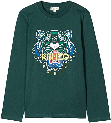 Kenzo niños Camiseta Tigre de Manga Larga Verde Dark Green 14 Years: Amazon.es: Ropa y accesorios