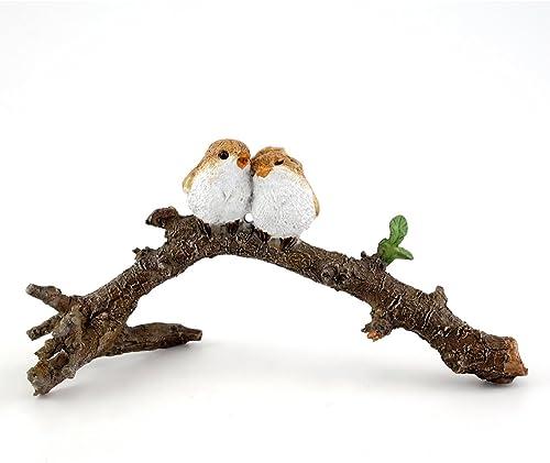 Top Collection 4404 Miniature Fairy Garden Terrarium Lover Birds on Branch Statue
