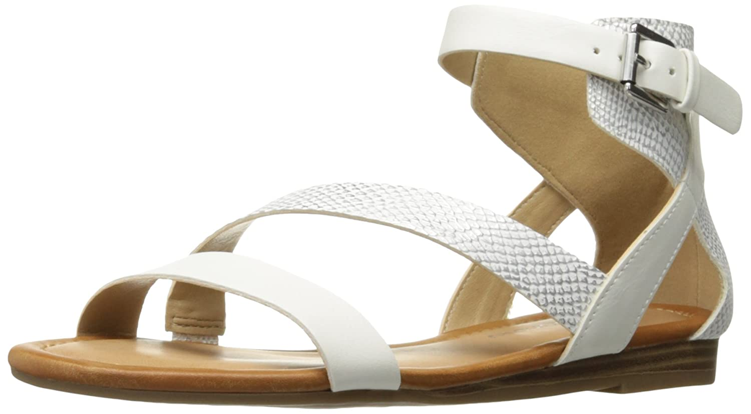 [CL by Chinese Laundry] Women's Keystone Flat Sandal [並行輸入品] B01MXQUUUN ホワイト 8 B(M) US