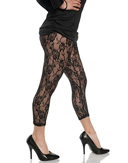 Women S Retro 80 S Lace Leggings At Amazon Women S Clothing Store