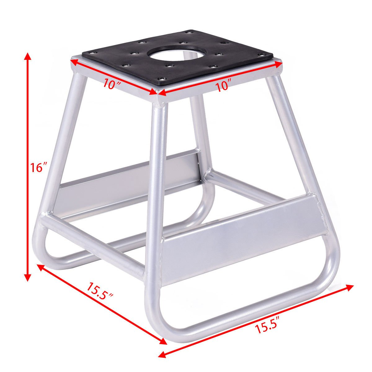 Goplus Motorcycle Motocross Dirt Bike Panel Stand Hoist Maintenance Lift Jack 1000LB Capacity (10''× 10'' Without Removable Oil Pan) by Goplus (Image #4)