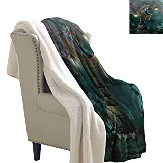 AndyTours Winter Quilt Fantasy Legendary Unicorn Design Blanket for Family and Friends W59 x L31