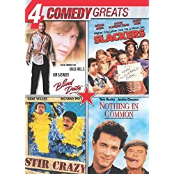 4 Comedy Greats (Slackers, Stir Crazy, Nothing in Common, Blind Date)